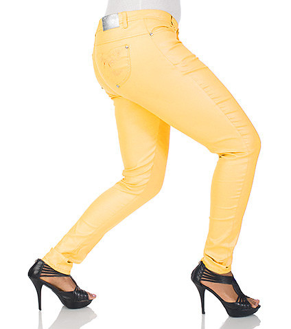 ESSENTIALS WOMENS PLUS SHIMMER TWILL PANT Yellow