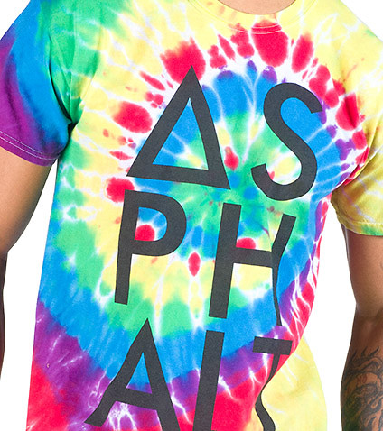 ASPHALT YACHT CLUB - Tees and Polos - REACTIVE RAINBOW KNOKOUT TEE