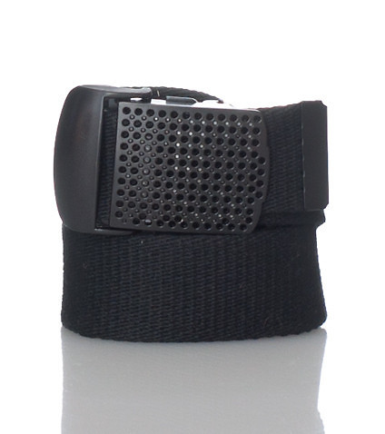 ESSENTIALS MENS PERFORATED BELT Black