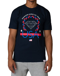 DIAMOND SUPPLY COMPANY USA TEAM SS TEE