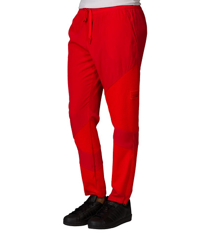 adidas WOMENS MESH  INSET PANT Red