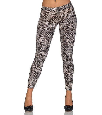 PAPERMOON - Leggings and Jeggings - TRIBAL PRINT LEGGING