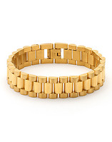 KING ICE GOLD ROLEX LINK BRACELET