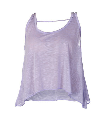ESSENTIALS WOMENS BASIC FLY AWAY TANK TOP Purple