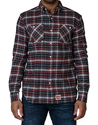 DIAMOND SUPPLY COMPANY BOX CHECK FLANNEL SHIRT
