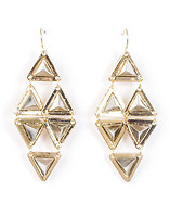ESSENTIALS 3D PYRAMID SPIKE DANGLE EARRINGS
