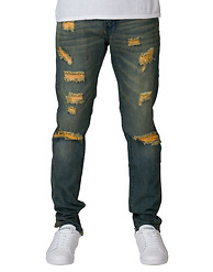 CRYSP ABBOT RIPPED DENIM