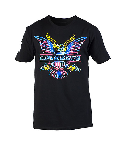 DIPSET MENS USA NEON TEE Black