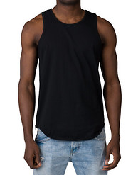 DECIBEL SOLID TANK W SCALLOP HEM SIDE ZPR