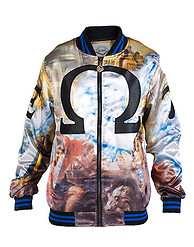 DECIBEL OMEGA SATIN BASEBALL JACKET