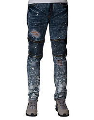 DECIBEL MOTO KNEE ZIP JEANS