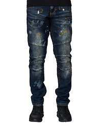 EMBELLISH DEVILE BIKER DENIM JEAN