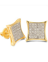 KING ICE GOLD PLATED 925 SILVER EARRING
