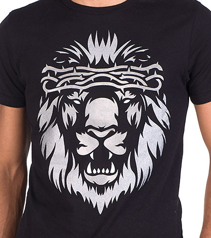 AURA GOLD - Tees and Polos - METAL LION TEE