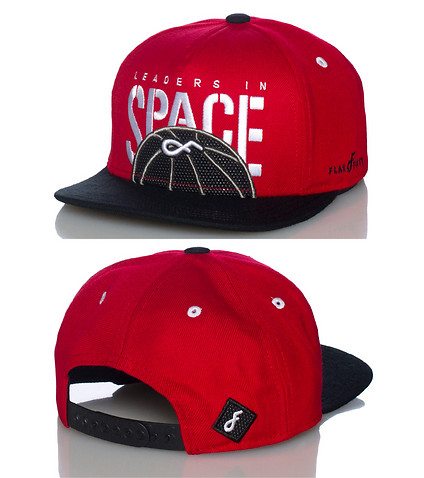 FLAT FITTY MENS 5 PANEL NEW SCHOOL SNAPBACK CAP Red