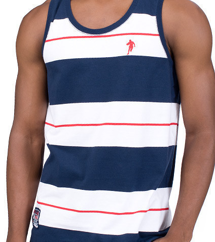 ESSENTIALS - Tank Tops - STRIPE TANK TOP W FRONT BK GRAPHIC