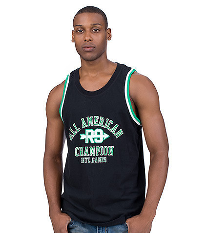 ESSENTIALS - Tank Tops - SOLID TANK TOP WITH FRONT GRAPHIC