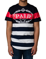 HUDSON OUTERWEAR PIF STRIPED ELONG TEE