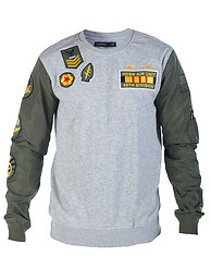 HUDSON OUTERWEAR DROP ZONE CREW SWEATSHIRT