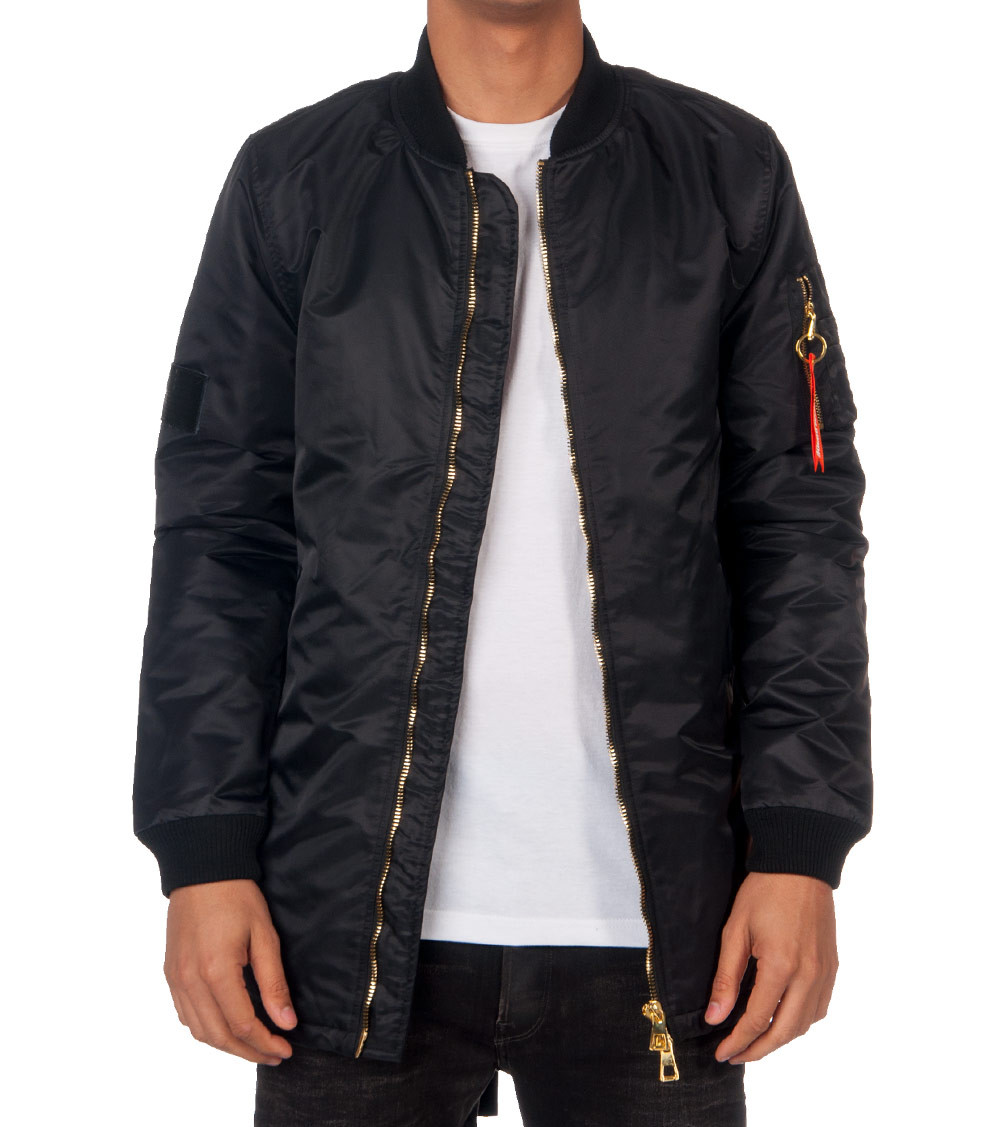 HUDSON OUTERWEAR TONAL FISHTAIL FLIGHT JACKET - Black | Jimmy Jazz ...