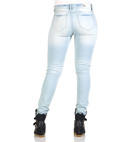 DOLLHOUSE WOMENS HIGH WAIST SKINNY JEAN Blue