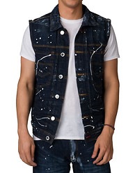 HERITAGE PAINT SPLATTER DENIM VEST