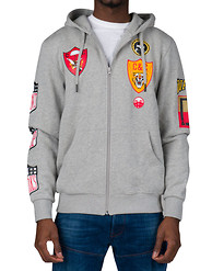CROOKS AND CASTLES BADGES ZIP HOODIE