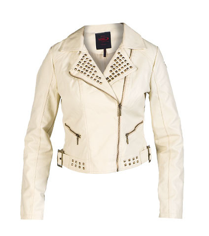 ESSENTIALS - Light Jackets - STUDDED PU JACKET