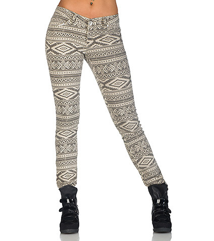 ESSENTIALS WOMENS AZTEC JEAN Beige-Khaki