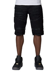 DECIBEL MOTO ZIP SHORT W RIPS DETAIL