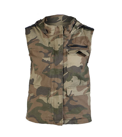 ESSENTIALS WOMENS MILITARY VEST Brown