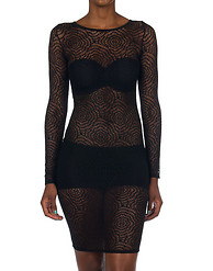 K TOO STRETCH LACE LINED DRESS