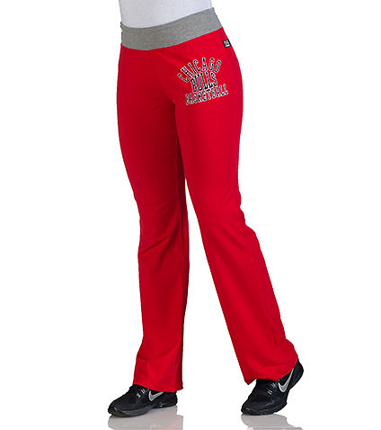 NBA 4 HER WOMENS CHICAGO BULLS OVERTIME SWEAT PANT Red