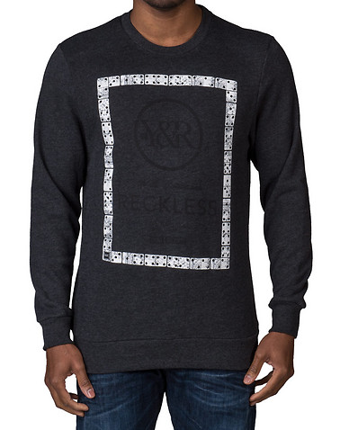 YOUNG AND RECKLESS MENS Grey Clothing / Sweatshirts XL 11242802