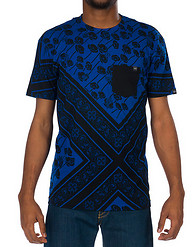 YOUNG AND RECKLESS POPPY PRINT POCKET SS TEE