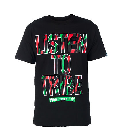 MIGHTY HEALTHY MENS TRIBE TEE Black