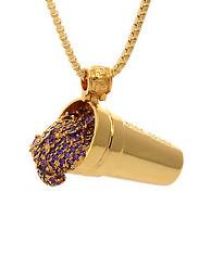 KING ICE 14K PURPLE DRANK NECKLACE