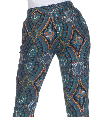 ESSENTIALS - Bottoms - HAREM PAISLEY PRINT PANT