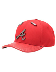 PRO STANDARD ATLANTA BRAVES LEATHER STRAPBACK