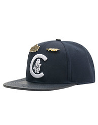 PRO STANDARD Chicago Cubs Leather Strapback Hat