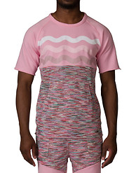 PINK DOLPHIN Marble Weave Knit Tee
