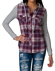 ESSENTIALS FLANNEL HOOD SHIRT