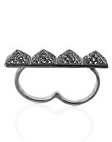 ESSENTIALS RHINESTONE DOUBLE RING