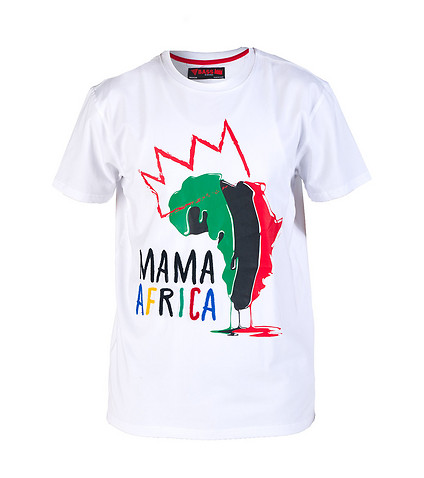 BASS BY RON BASS MENS MAMA AFRICA TEE White