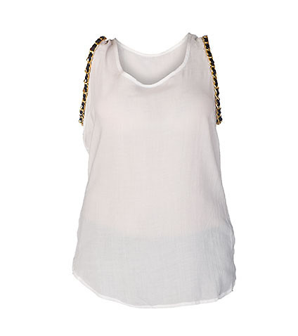 ESSENTIALS WOMENS RAYON CHALLIS TANK TOP White