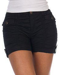 ESSENTIALS FRONT AND BACK FLAP POCKET TWILL SHORT