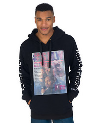 DOUBLE NEEDLE EASTWEST LENTICULAR PULLOVER HOODIE