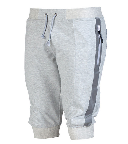 AMERICAN STITCH MENS ZIPPER DETAIL FLEECE SHORT Grey