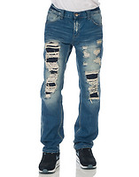 DECIBEL DISTRESSED DENIM PANT