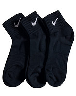 NIKE 3 PACK CUSHION QUARTER SOCKS